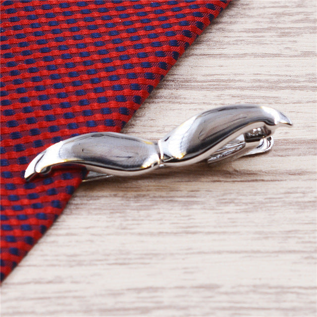 Stylish Tie Clip Silver Or Gold Tash - Aces23