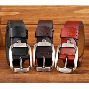 Genuine Leather Belt Coffee - Aces23