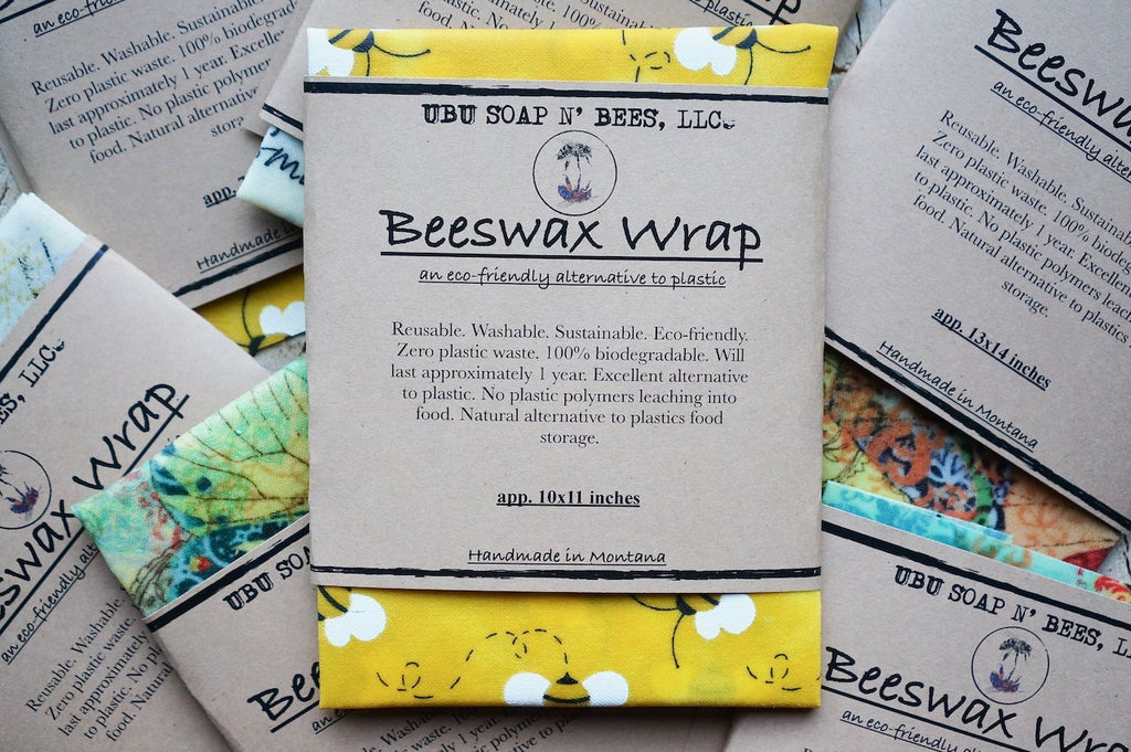 Handmade Cotton Beeswax Wraps - UBU Soap n' Bees
