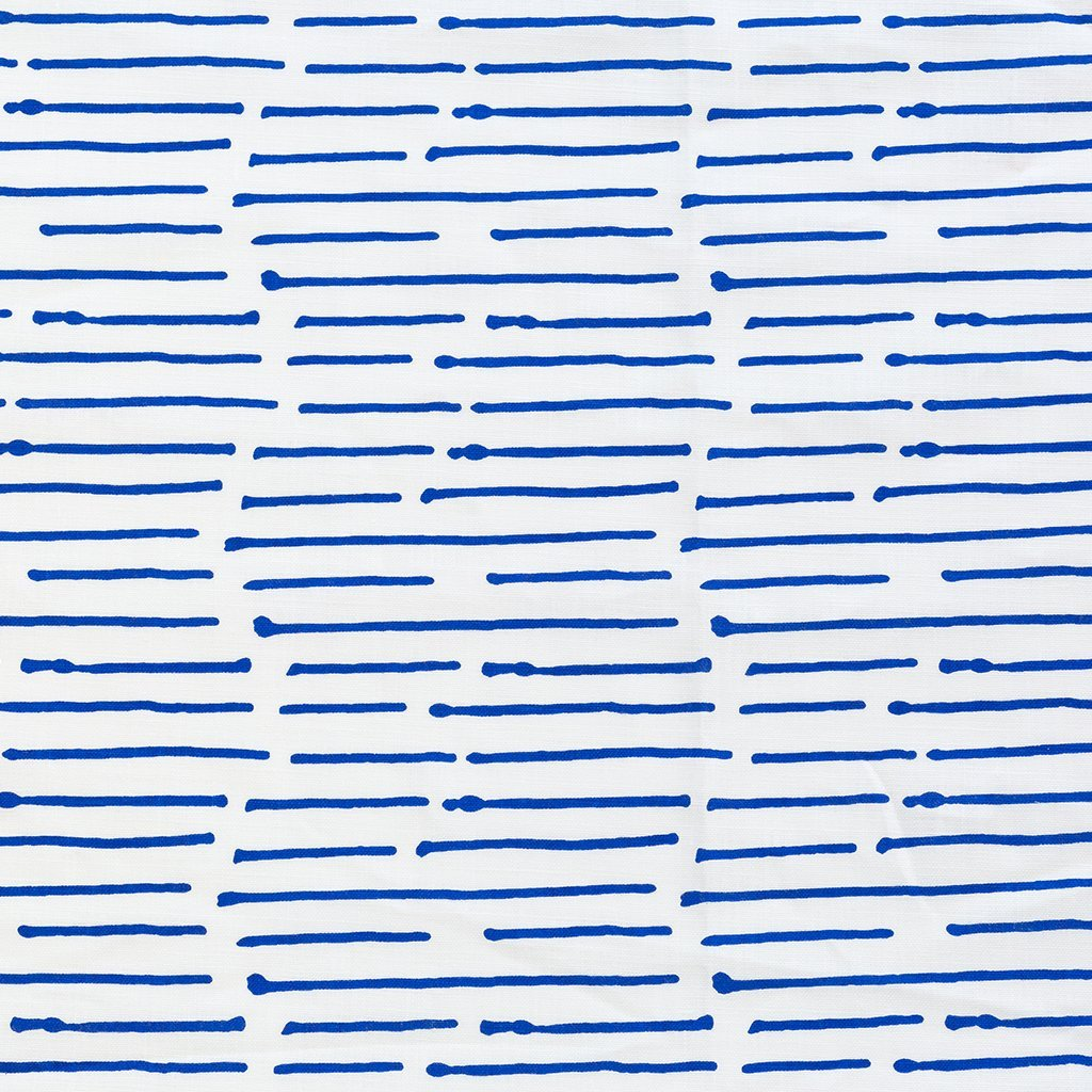 INK STRIPE / COBALT FABRIC