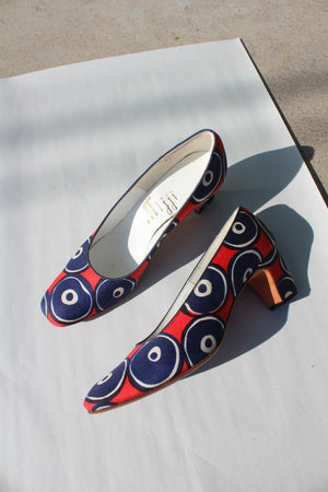 1960's Mijji Printed Pumps