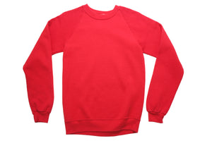 80's Red Fitted Sweatshirt