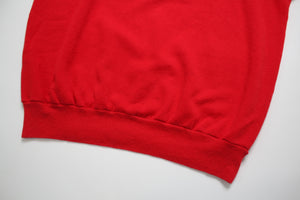 Red Short Sleeve Sweatshirt