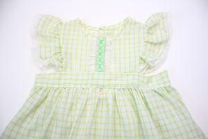 Baby Lime Plaid Dress
