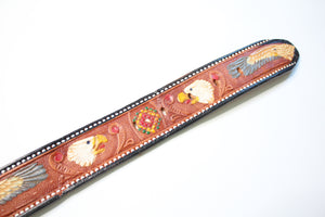 Tooled & Painted Leather Belt