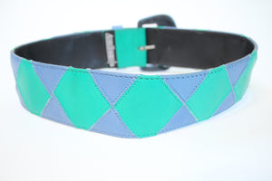 Patchwork Leather Waist Belt