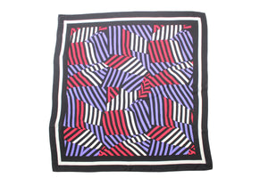 Graphic Print Silk Scarf