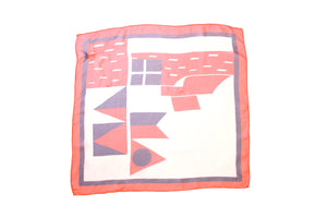 60's Sheer Flag Scarf