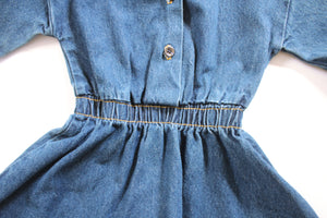 Kiddo Collared Denim Dress