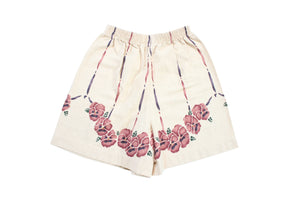 Kiddo Tan Floral Shorts - 6
