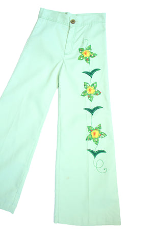 70's Mint Green Bells