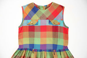 Kiddo Mid-Century Plaid Dress Set - 10