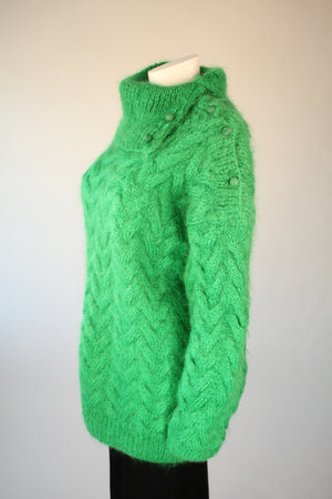 Green Oversized Mohair Sweater