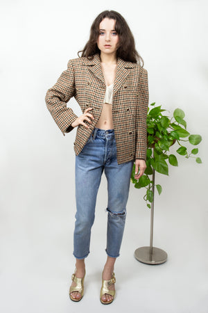 Valentino Tweed Double-Breasted Blazer