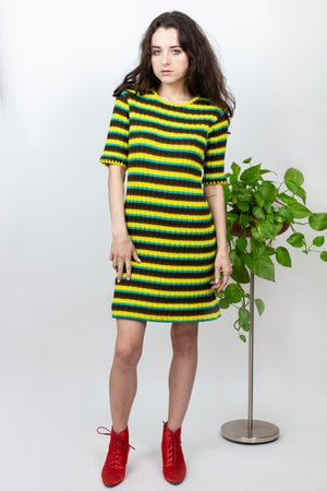 1970's Striped Sweater Dress