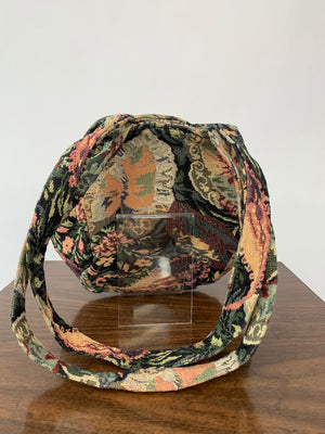 Expandable Tapestry Purse w/ Long Strap
