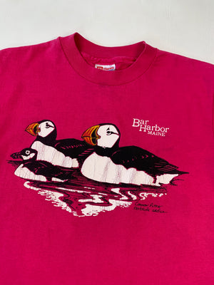 1980's Hot Pink Puffin Tee