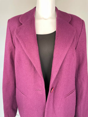Plum Wool Cropped Blazer