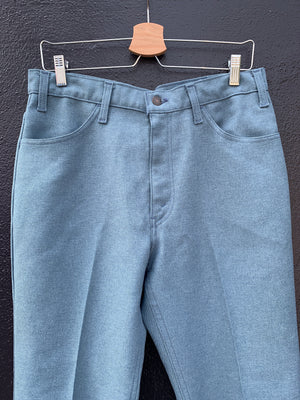 70's Levi's Blue Poly Pants - 34
