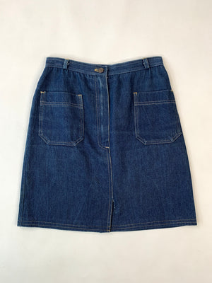 Sasson Denim Skirt w/ Patch Pockets