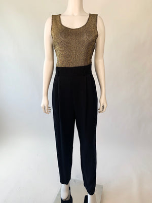 Cocktail Jumpsuit w/ Shiny Bodice