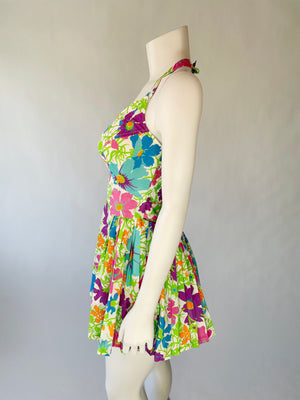 Beautiful 1960's Floral Playsuit