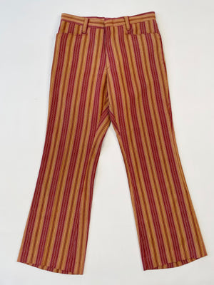 Maroon Striped Trousers
