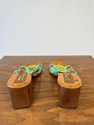 Green Reptile Y2K Slides