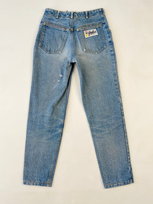 1980's High Rise Button-Fly Gasoline Jeans