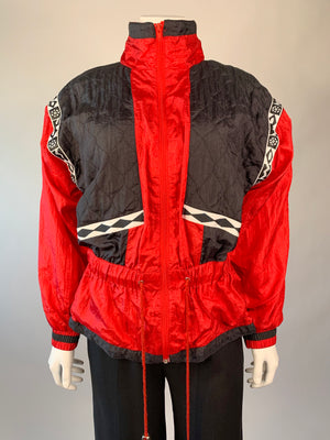 Red & Black Cinched 90's Jacket