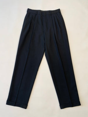 1980's Black Pleated Slacks