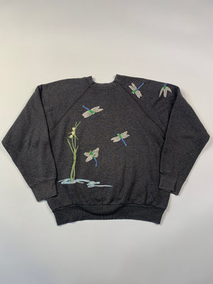 Amazing Dragon Fly Folk Art Comfy Sweatshirt - S