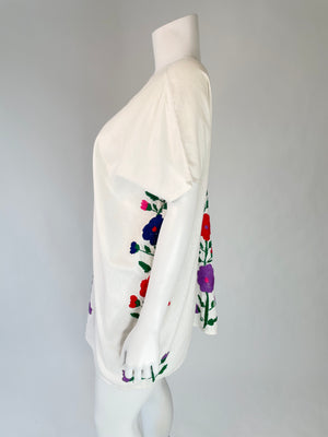 1960's Mexican Tunic w/ Floral Embroidery