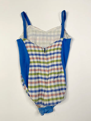 Kiddo Plaid Bathing Suit - 12 Months