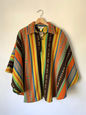 Beautiful Rainbow Blanket Poncho - S/M/L