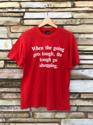 Red 80's Shopping Tee - L