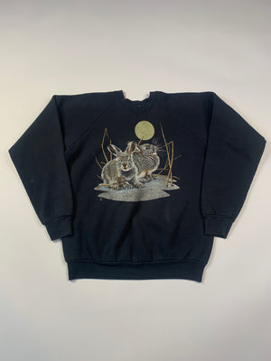 1988 Bunnies In The Moonlight Sweatshirt - L