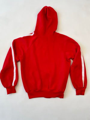 Red Racing Stripe Hoodie