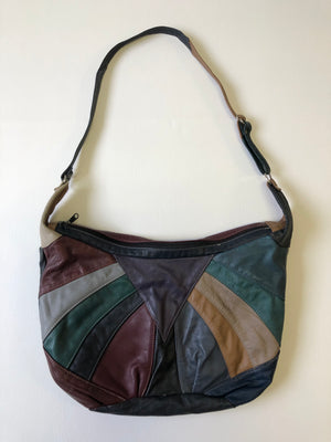 70's Soft Patchwork Leather Oversized Bag