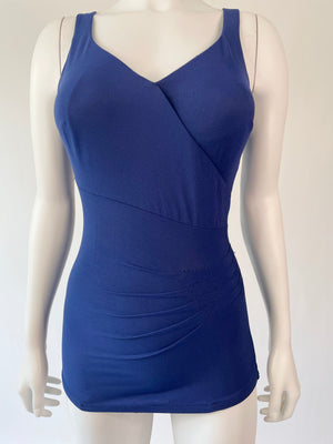 Navy Blue Mid-Century Nautical Swimsuit
