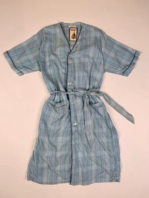 Mid-Century Lightweight Plaid House Dress - XL