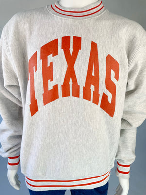 1990's Texas Striped Crew Sweatshirt