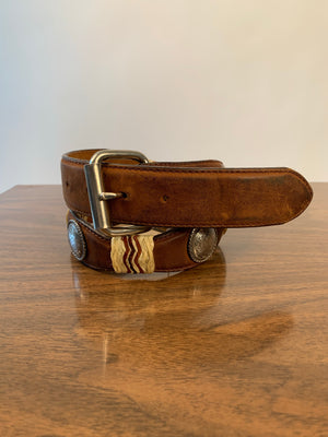 Brown Leather Concho Belt