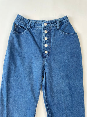 1980's High Rise Bongo Button-Up Jeans