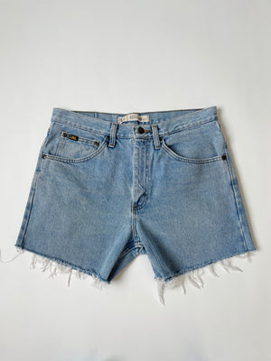 Stonewash Lee Cut-Off Shorts