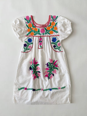 White Kiddo Mexican Dress