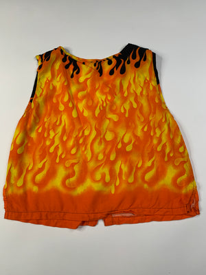 Flames Crop Top - L