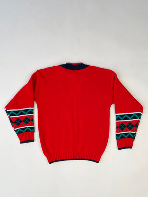1980's Kiddo Reindeer Argyle Sweater