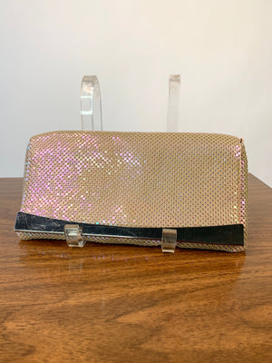 Iridescent Mesh Evening Bag