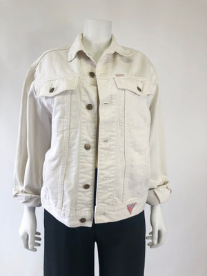 1980's White Denim Guess Jacket